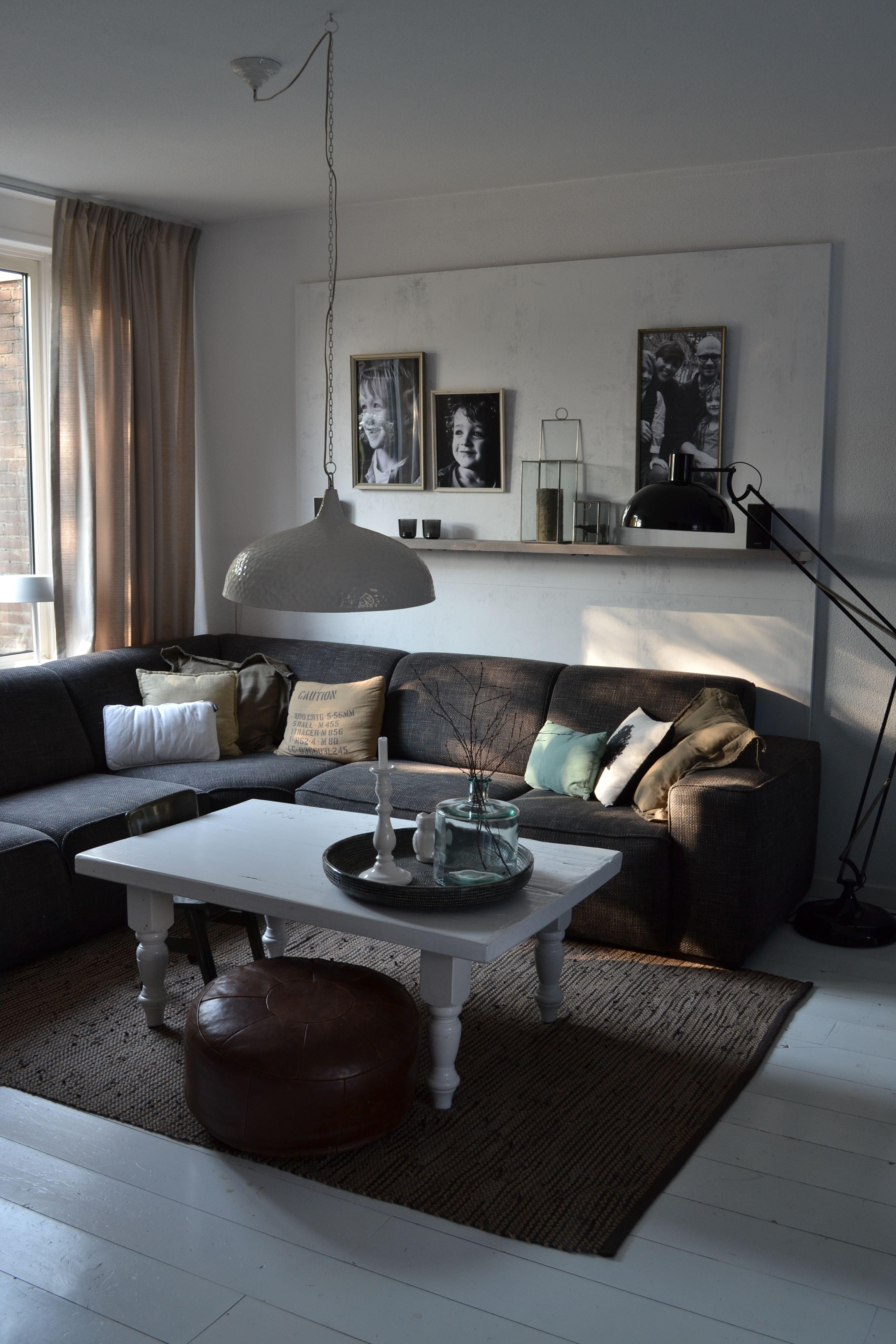 MANON interieur STYLING Foto bord achter bank woonkamer. Makkelijk ...