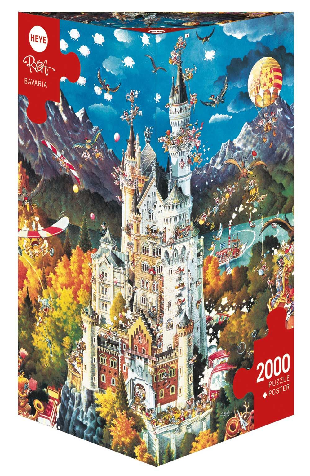 Bavaria 2000 Pieces Heye Puzzle Warehouse Bavaria Puzzle Art Puzzle