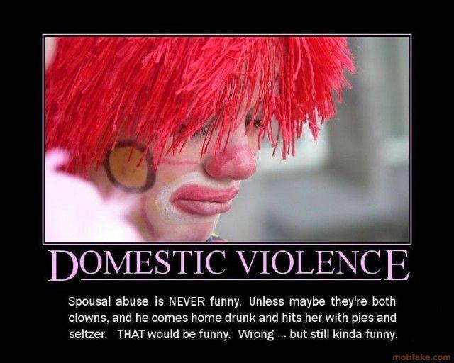 Demotivational Funny domestic violence