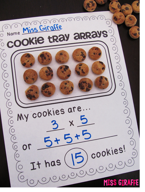 Arrays activities to make math fun - cookie tray arrays and so many more great ideas on this blog for arrays and repeated addition for 2nd grade an…