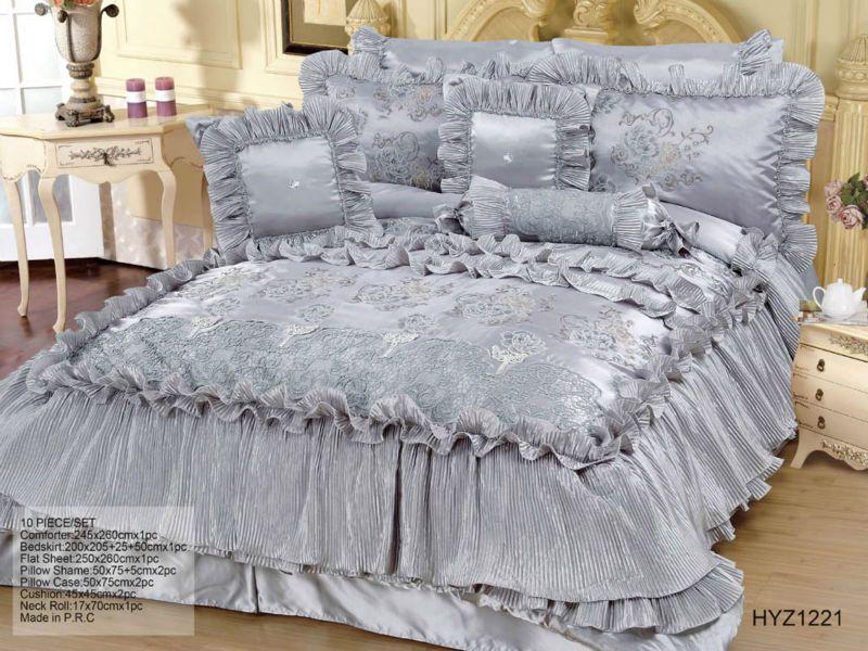 10PCS Gray  Comforter