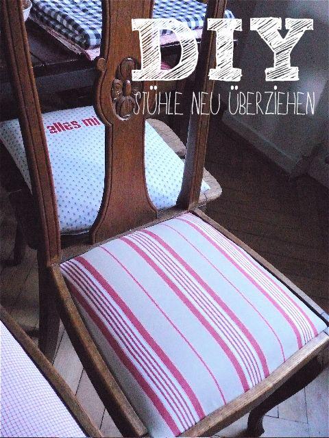 Stühle überziehen, Die Landfrau | stühle | Pinterest | Upcycling