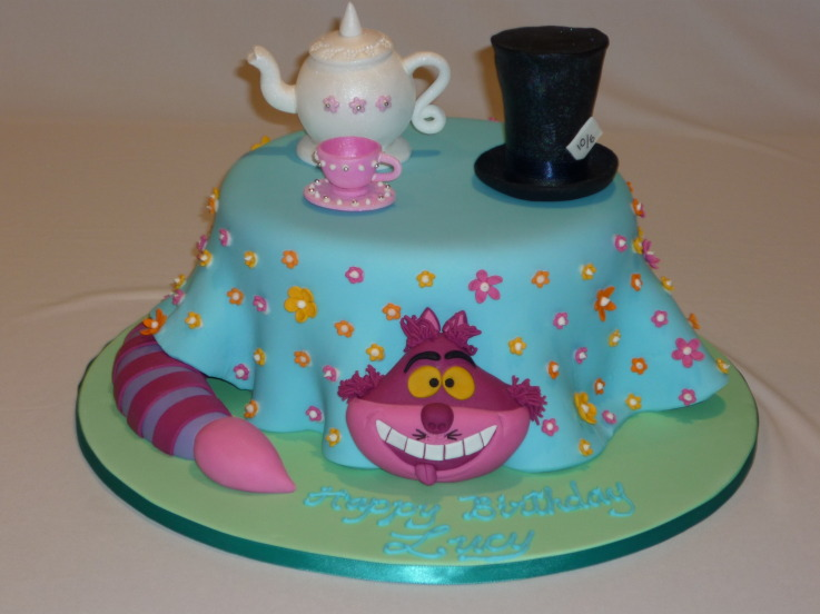 Alice In Wonderland Cakes Alice In Wonderland Cake Mad Hatter