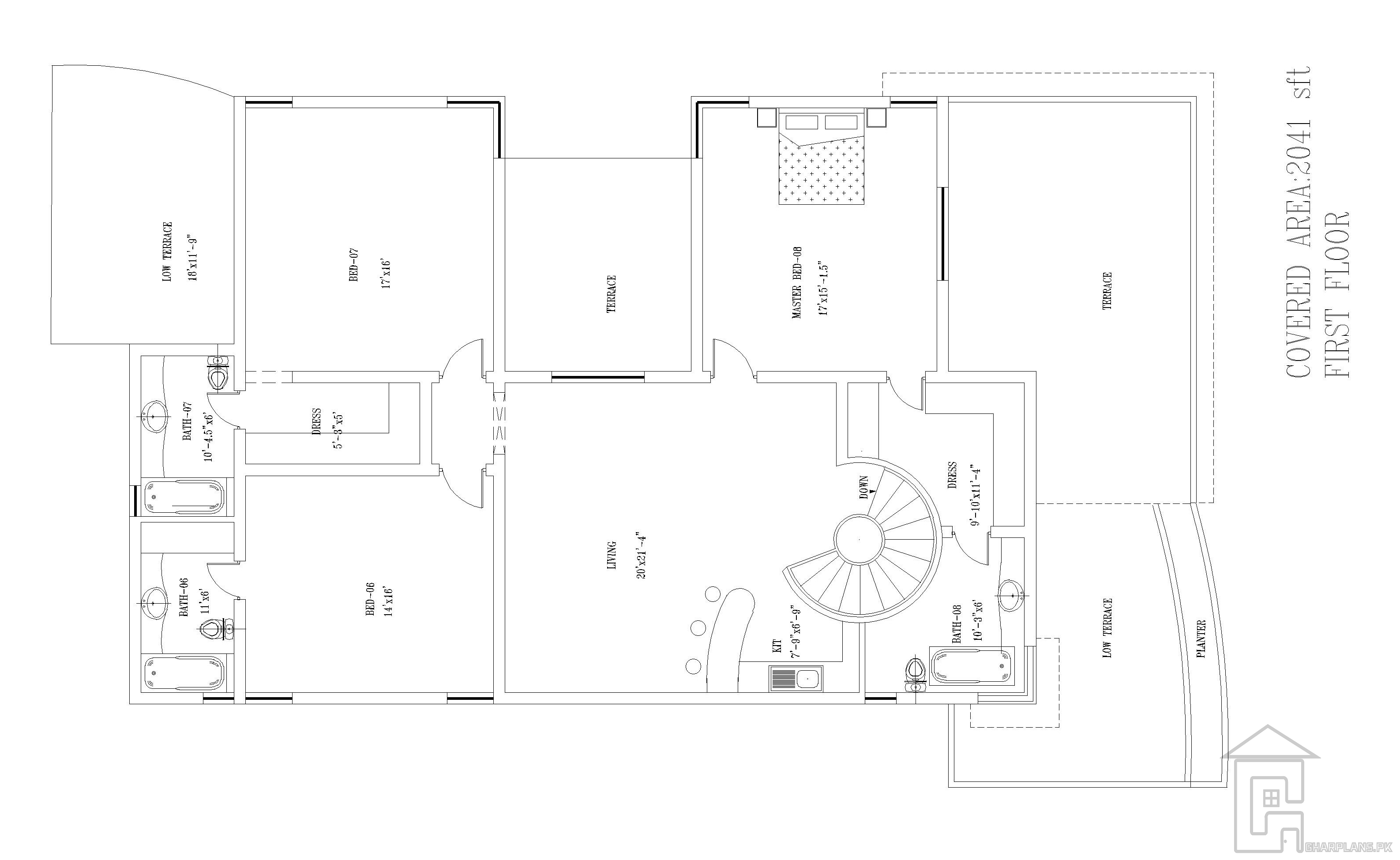 Layout Plan Of First Floor Of The House With A Low Terrace A High Terrace A Side Terrace And Ex Basement House Plans House Layout Plans Beautiful House Plans