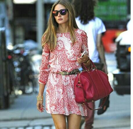 Olivia redypink dress and bag