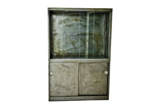 Vintage Glass And Metal Cabinet Furniture Vintage Glass Doors And