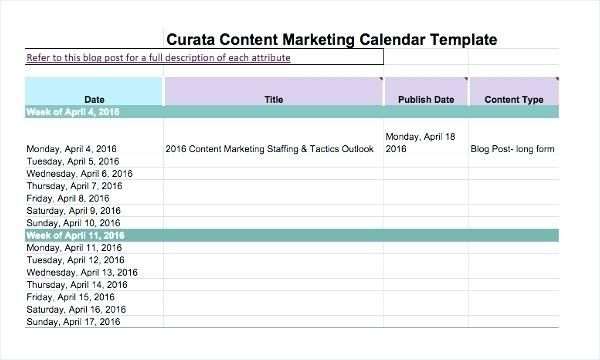 Excel Marketing Excel Marketing Calendar Template Excel Sales And