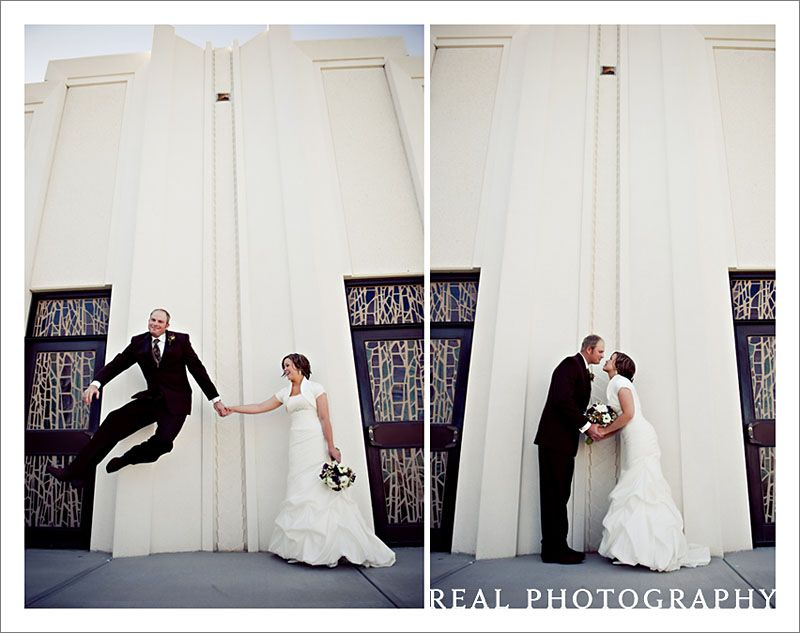 Lol Awesome Question Why Isn T The Bride Jumping Lol Lds Temples Wedding Temple Wedding Wedding Photographers