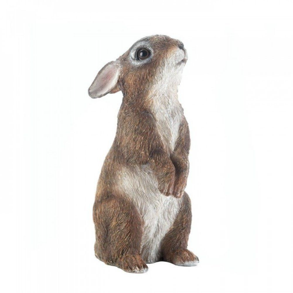 Bunny Garden Ornament Stand Up Rabbit Figurine Yard Outdoor Statue Easter  Decor