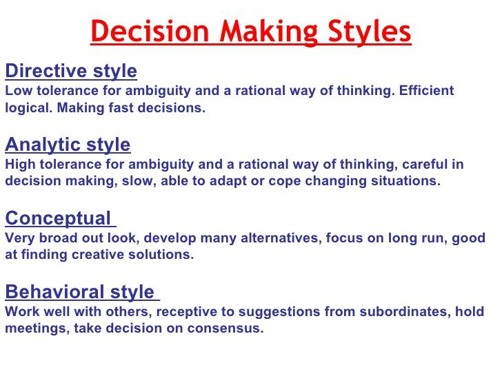 four principles of individual decision making Four fundamental ethical principles (a very simple introduction) the principle of respect for autonomy autonomy is latin for self-rule we have an obligation to respect the autonomy of other persons, which is to respect the decisions made by other people concerning their own lives.