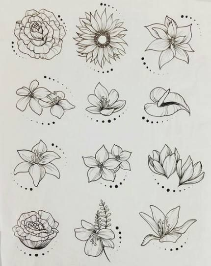 Flowers Tattoo Sketch Sunflowers 28 Super Ideas