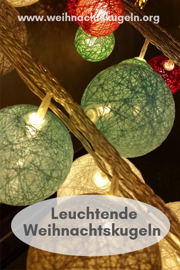 Pastellfarbene Christbaumkugeln.Leuchtende Weihnachtskugeln Sind Meist Mit Einem Led Licht