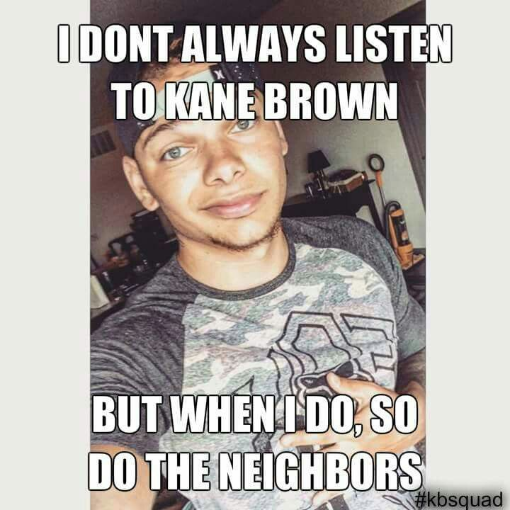 Spreadin the love!  Everyone needs a lil Kane Brown in their life… or maybe a LOT!  #KaneTrain #KaneBrown