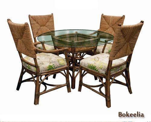 Bokeelia Wicker Dining Room Set  Caprisd Furniture Dining Room Gorgeous Indoor Wicker Dining Room Sets Inspiration Design
