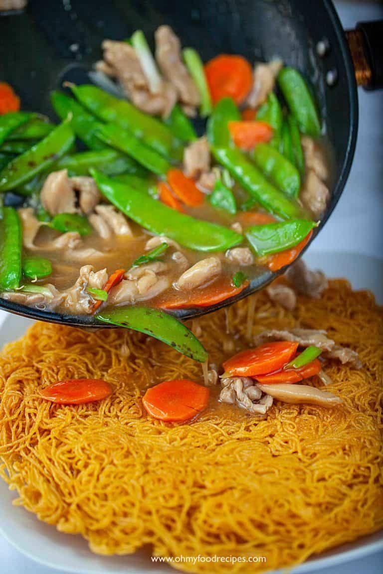 crispy pan fried noodles 兩面黄 oh my food recipes pan fried noodles food fried noodles recipe crispy pan fried noodles