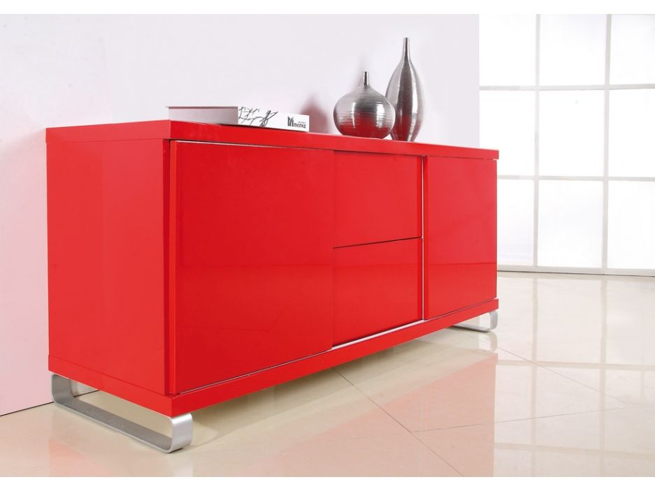 Buffet SQUARE - MDF laqué - rouge http://www.vente-unique.com/p/buffet-bas-square-mdf-laque-4-coloris-3