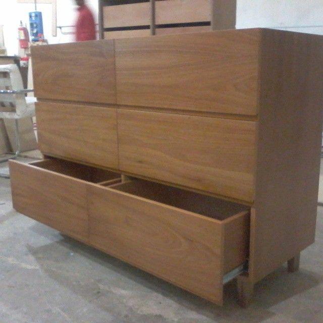 Cajonera cubic de 6 cajones en madera de cedro terminacion - Cajonera de cocina ...