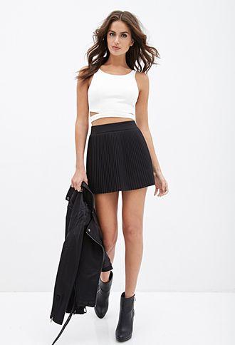 Pintuck Pleated Skirt | Forever 21 - 2000137480