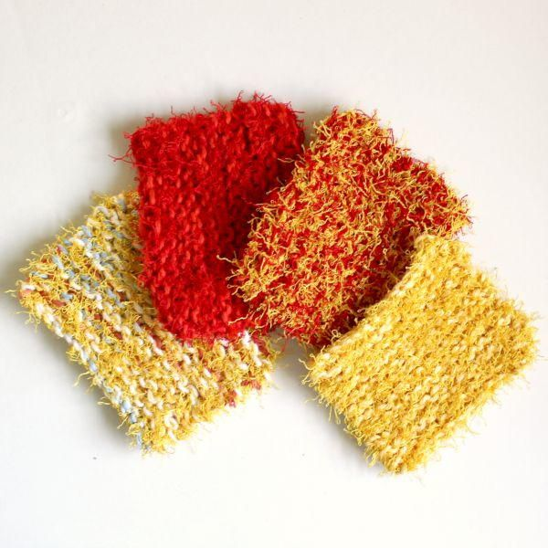 How To Knit Scrubbies Knit Dishcloth Patterns Scrubby
