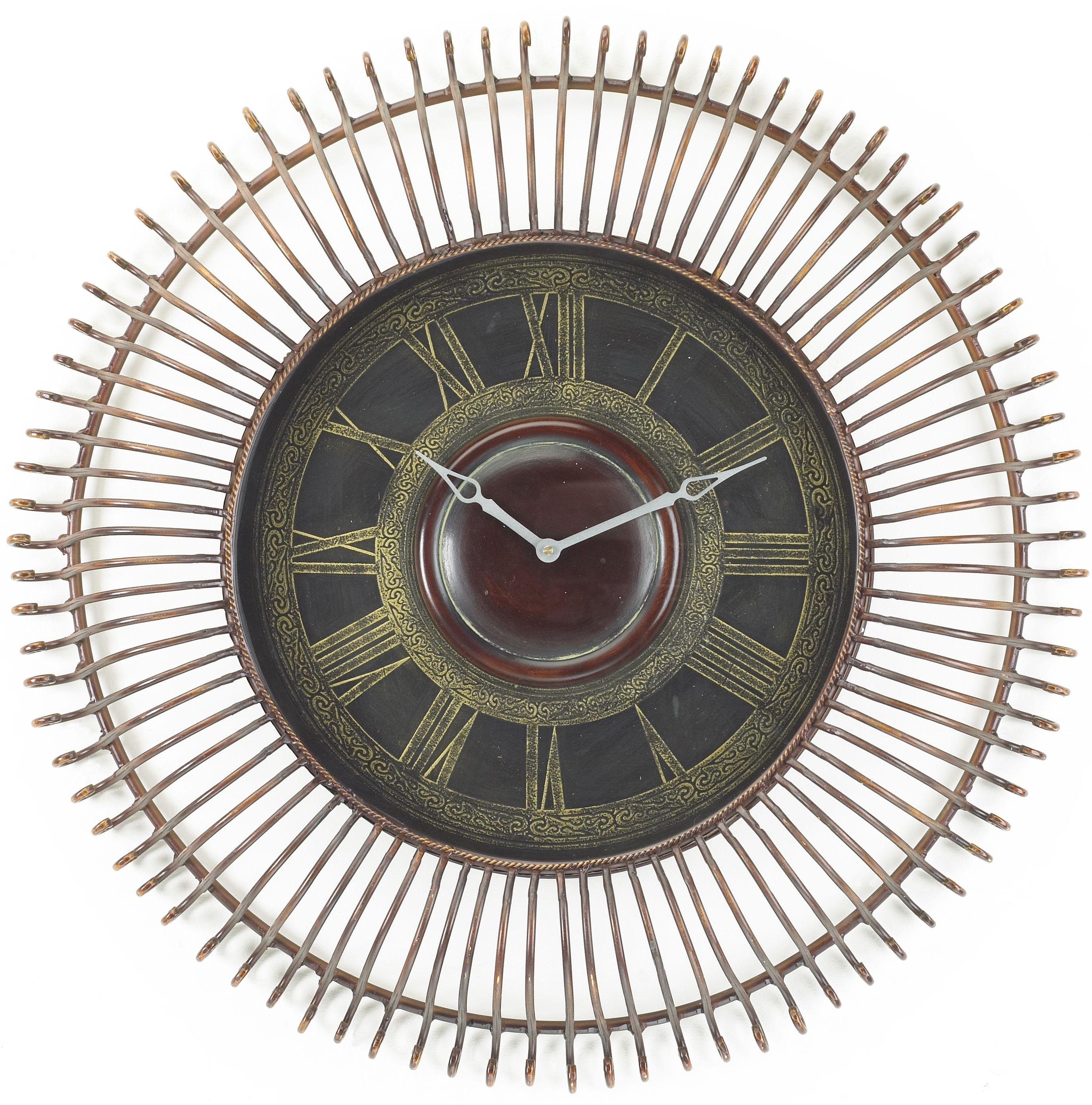 Large metal art wall clock phiaraehomelargewallclock