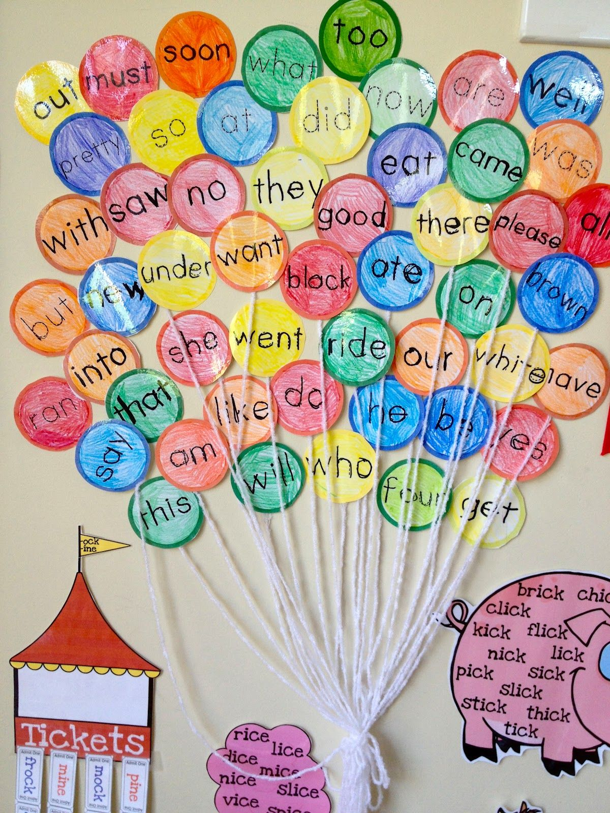 Sight Words Fun Word Wall But I D Use Less Yarn Because