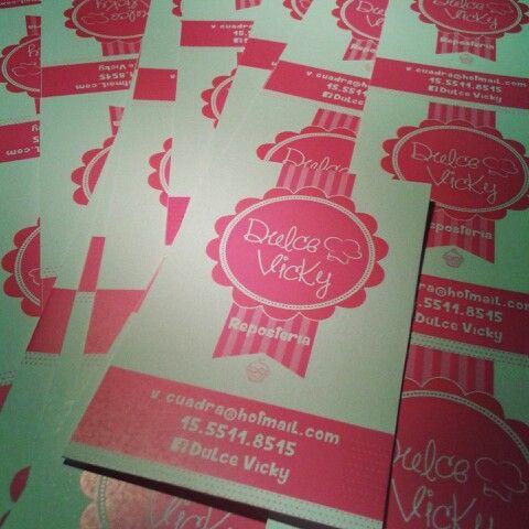 Dulce Vicky Reposteria - Tarjetas Personalizadas y con Diseño #proyectatuidea