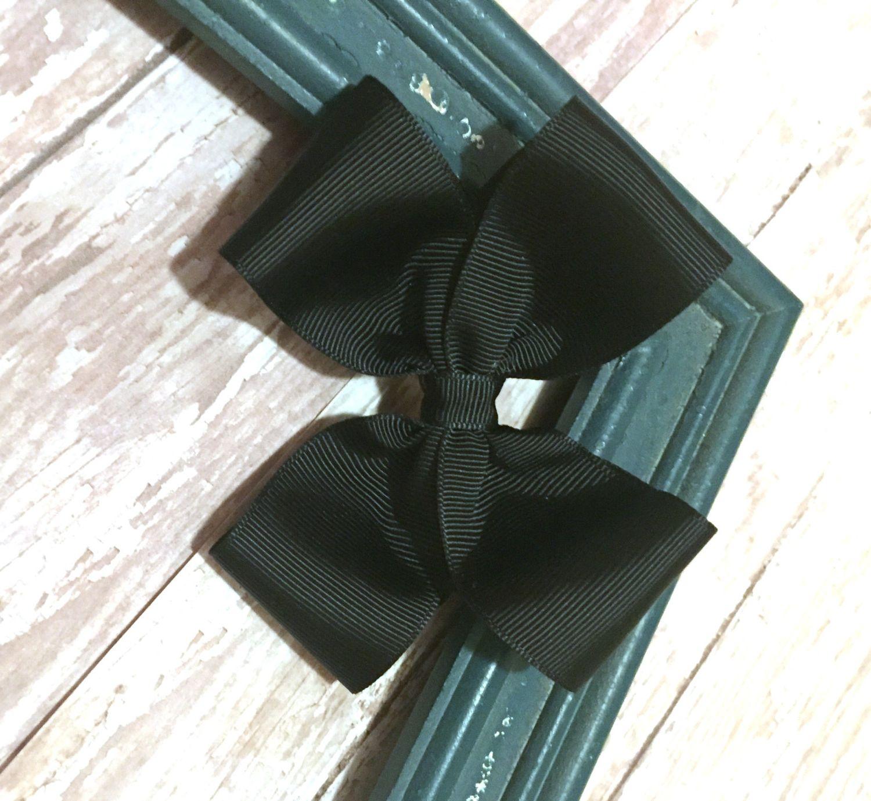 Black bow hair accessories - Black Boutique Style Hair Bow Black Bow Hair Clip Hair Accessory Girls