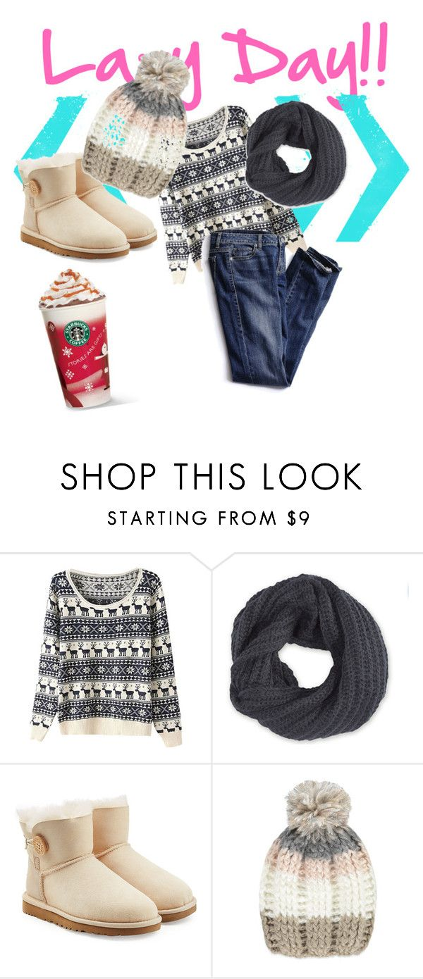 """""""Lazy days"""" by gigicr ❤ liked on Polyvore featuring Frenchi, UGG Australia, Forever 21 and Victoria's Secret"""