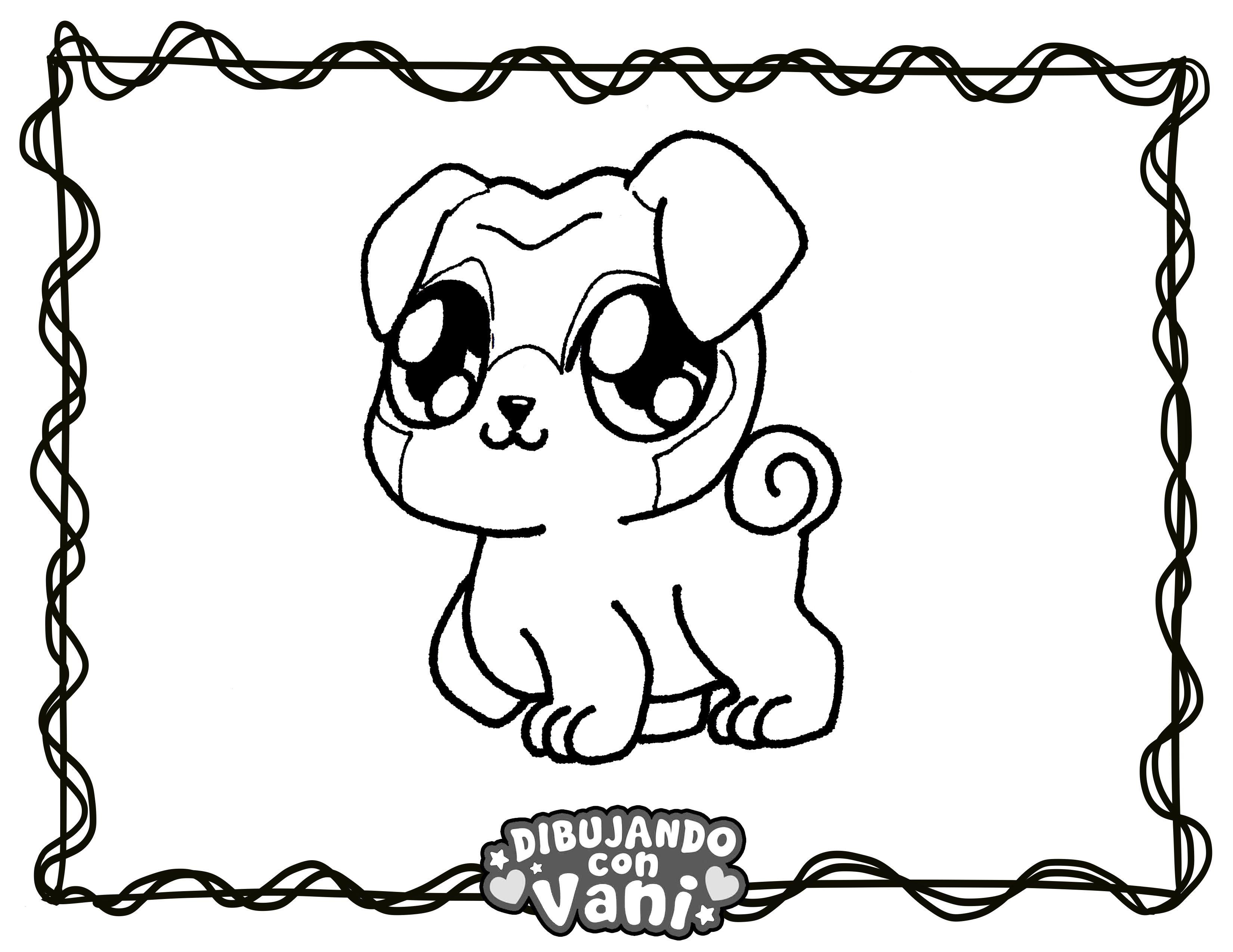Perro Pug Kawaii Dibujos Para Colorear Kawaii Anime Anime Chibi