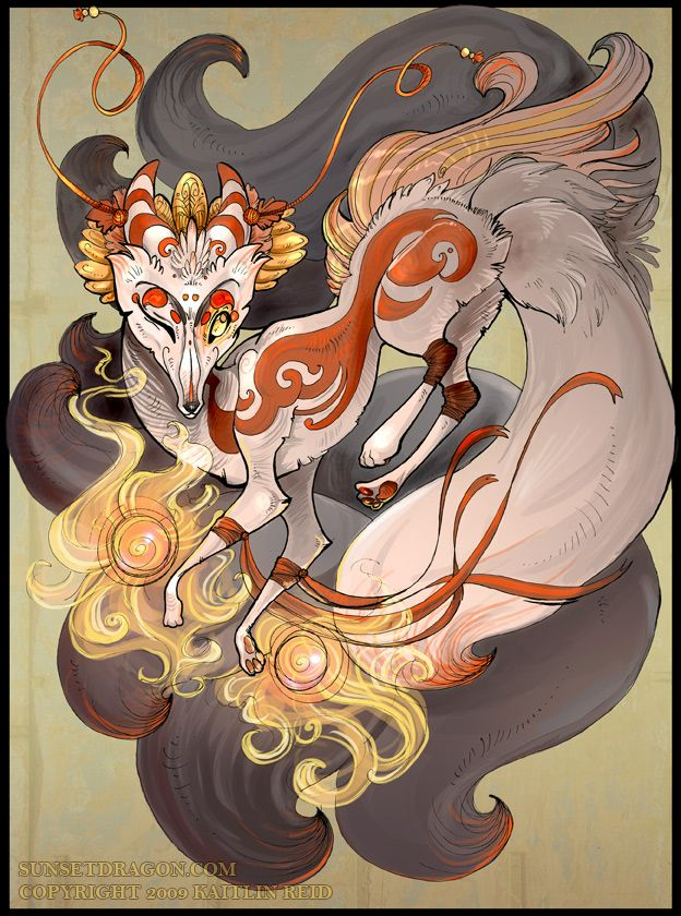 Kitsune Magic, by FlyingFox. Kitsune play a role in many