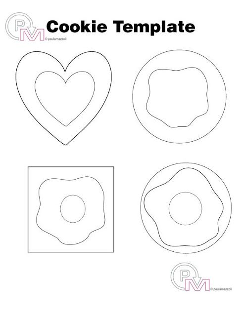 Felt Cookie Template designed by me for you, for free!