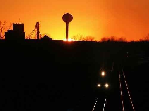 Sunset at Hawley | by railtalk