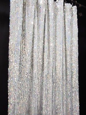 CGS211 1 Panel Silver 5mm X 9mm Sequin Shiny Fabric Made To Measure Curtain