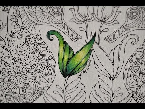 3 Ways To Colour Leaves In Magical Jungle Youtube Lost Ocean Coloring Book Enchanted Forest Coloring Book Colorful Drawings
