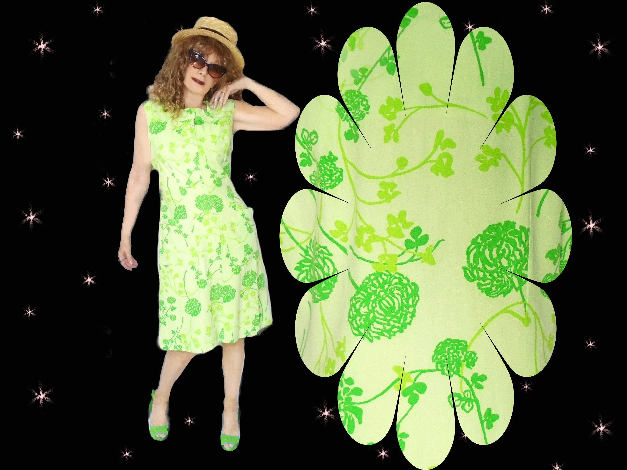 Mod dress plus size vintage summer psychedelic clothing s neon