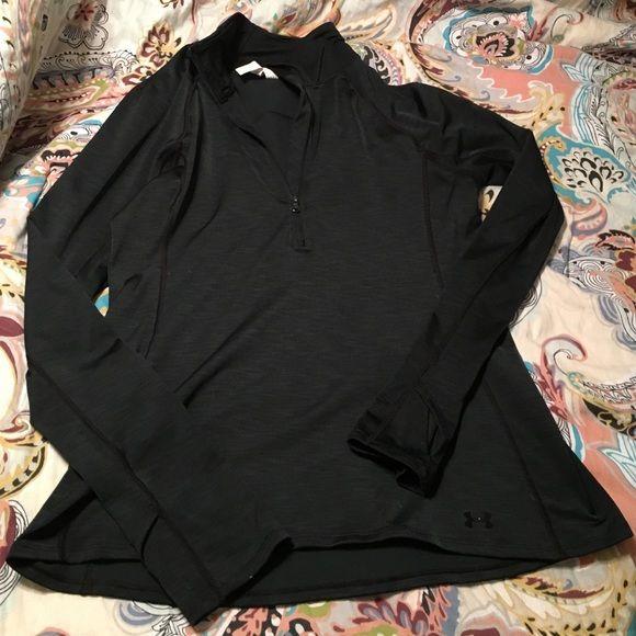 Under Armour black quarter zip Like new condition. Under Armour Tops Sweatshirts & Hoodies