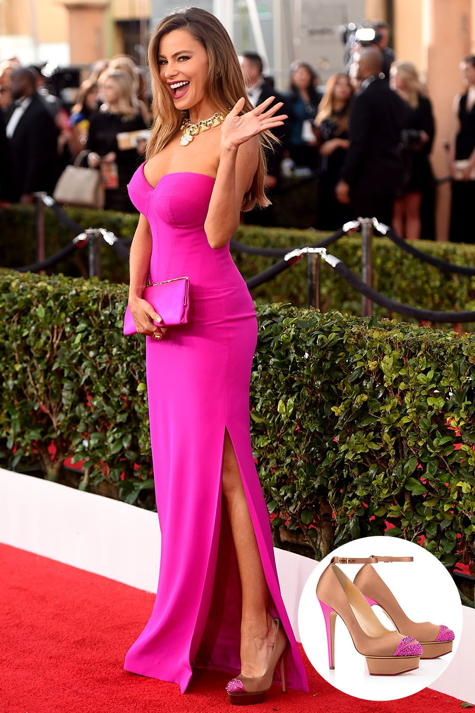 SAG Awards: The 10 Best Shoes | Pinterest | Vestidos de famosas ...