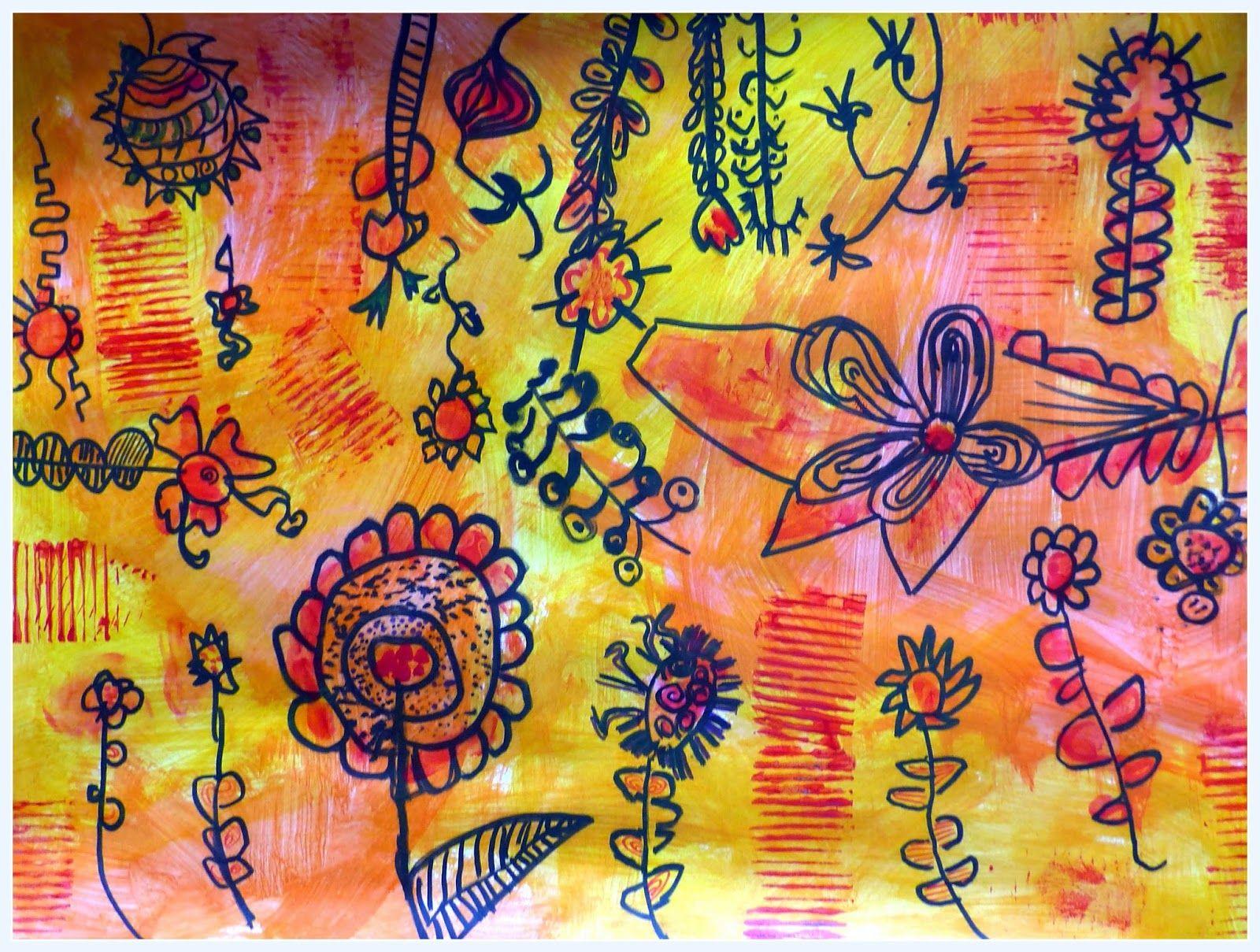 Fleurs du printemps en gs primavera pinterest fleurs - Fleurs printemps maternelle ...