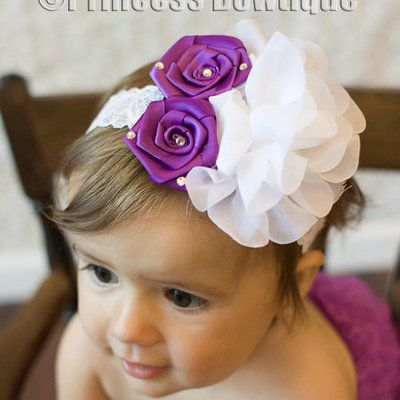 Baby Headbands or Flower Headbands,  Beautiful Headwraps, Tutus,  Baby Hair Bows, Pettiskirts, and Baby Sandals at Princess Bowtique!
