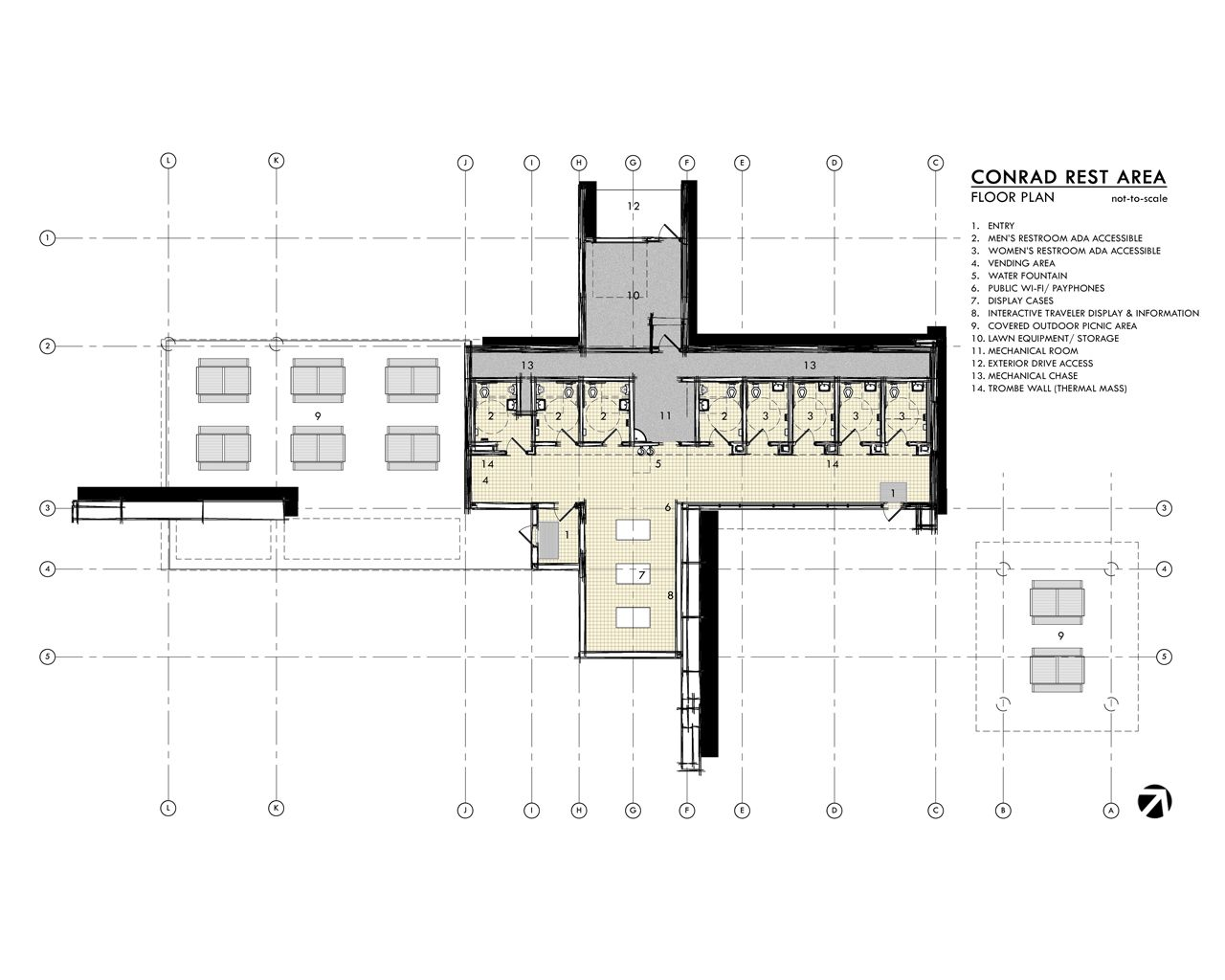 09 Floor Plan Drawing In 2020 Floor Plan Drawing Rest Area Floor Plans