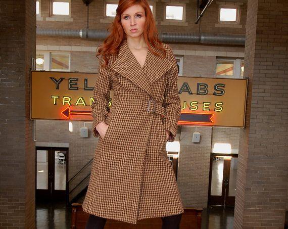 Women's Coach coat  in cocoa and vanilla by DeNovoStyle on Etsy, $420.00