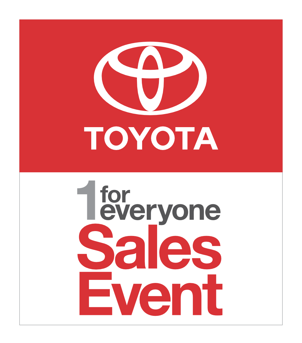 The Toyota 1 for Everyone Sales Event is on through March