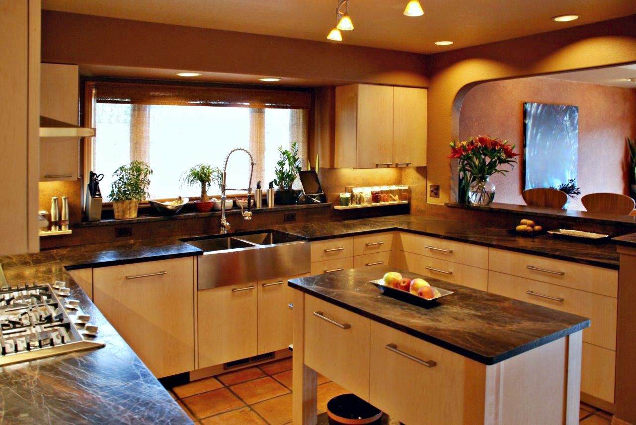 BKC Kitchen and Bath - Crystal Cabinet Works Springfield door style Natural finish on & BKC Kitchen and Bath - Crystal Cabinet Works Springfield door ...