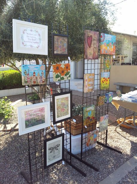 2 Grids 6 Tall Canvas Display At Craft Show Www Serendipitystudiobycw Blogspot Com Art And Shows Booth Displays