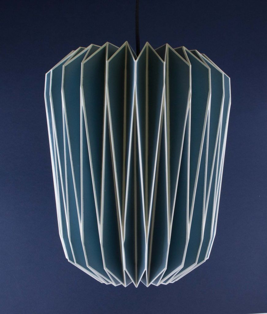 Origami Light Shade - Lovely Geometric Pattern in Blue £39.99 + ...