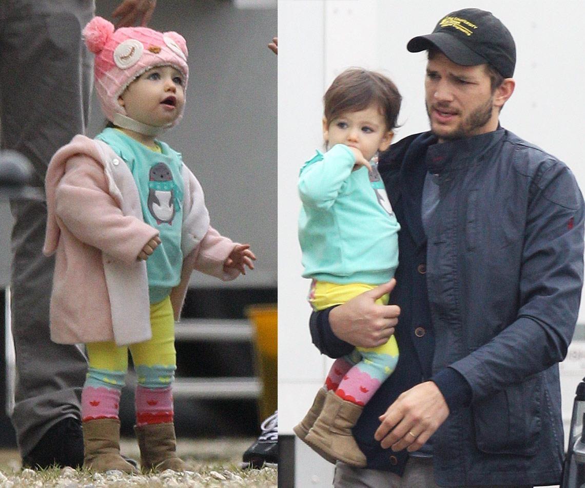 Ashton And Wyatt Kutcher Vist Mila Kunis On Set With Images