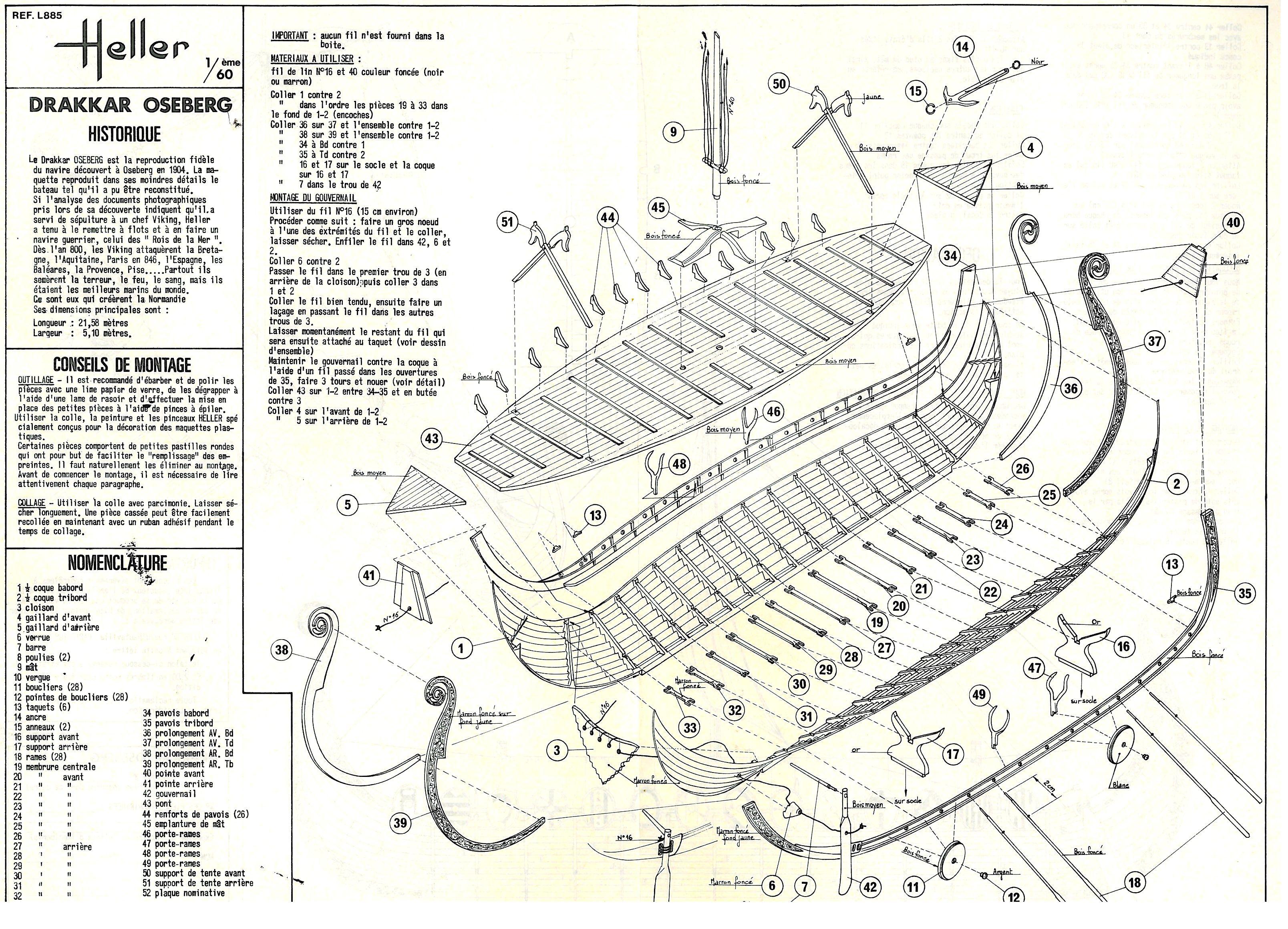 Bauplan eines models des osebergschiff sweden for Costruttore blueprint gratuito
