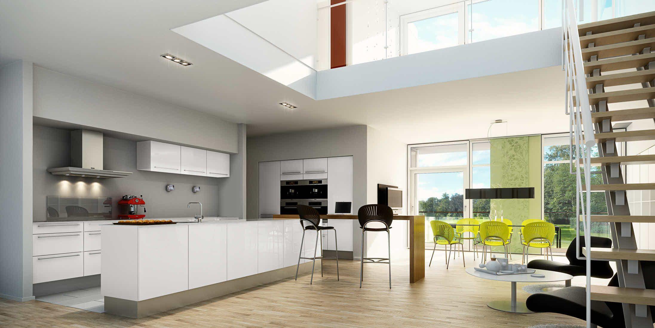 Emejing Cuisines Modernes Blanches Et Taupe Images - Design Trends ...