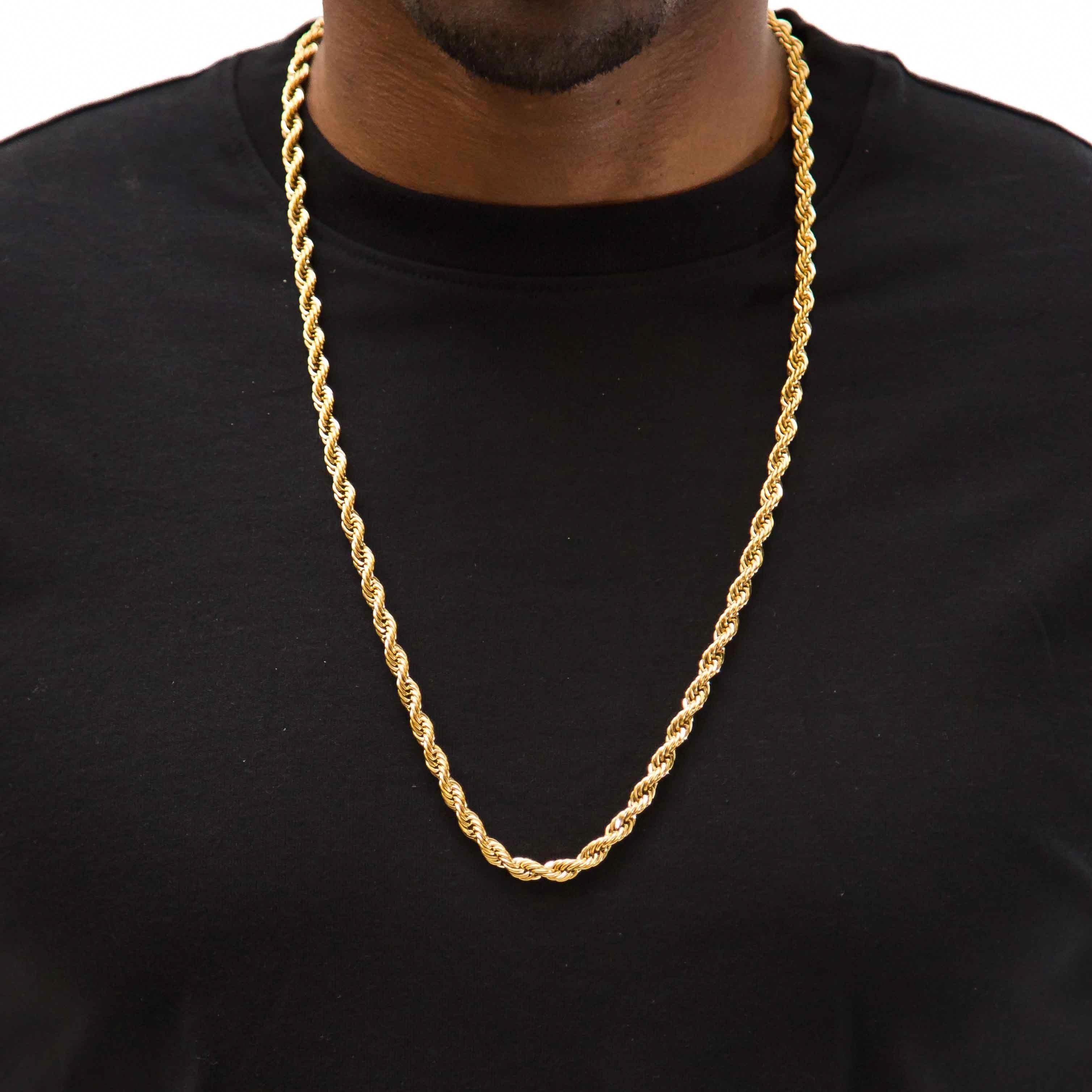 Rope Chain Goldjewelry Goldchainsmen Goldchains Fakegoldchains Mens Chain Necklace Mens Jewelry Necklace Long Chain Necklace