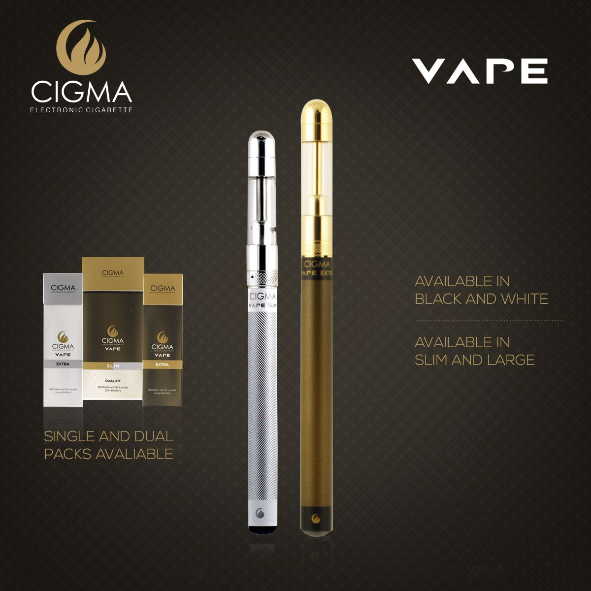 Cigma Vape provides high quality e cigarette brands online. Buy Best electronic  cigarette (e cig) in the UK at very reasonable prices.